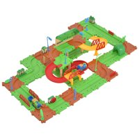 GHP 77-Pcs Plastic B/O Kids Electronic Railway Train Brick Building Blocks Toys