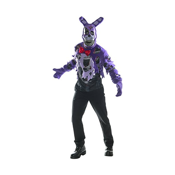 Rubie's Costume Co. Men's Five Nights At Freddy's Deluxe Nightmare Bonnie, As Shown, Small