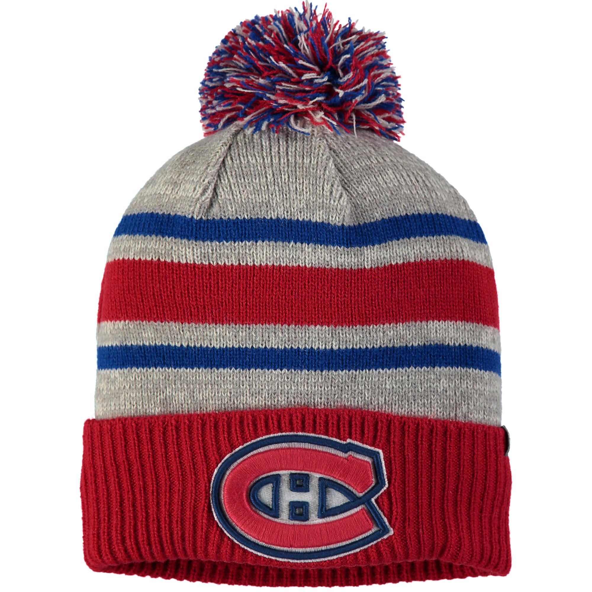 Montreal Canadiens Fanatics Branded True Classic Collegiate Cuffed Knit Hat with Pom - Gray - OSFA