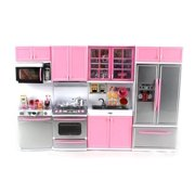 """'Deluxe Modern Kitchen' Battery Operated Toy Kitchen Playset, Perfect for Use with 11.5"""" Tall Dolls"""