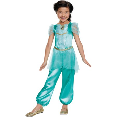 Jasmine Classic Girls Child Halloween Costume - Halloween Makeup Princess Jasmine