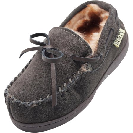 af9b149dbc8b NORTY - NORTY Toddler Boys Girls Unisex Suede Leather Moccasin Slip On  Slippers