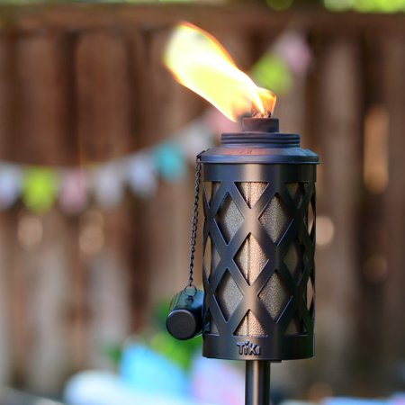 TIKI® Brand 65-Inch Urban Metal Torch 4-in-1 Bronze