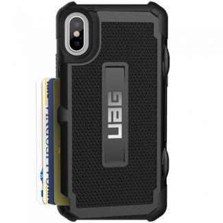 7a0bf6b836dbc8 UAG iPhone X Trooper Rugged Card Case [BLACK] Military Drop Tested iPhone  Case