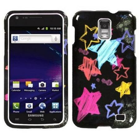 Samsung I727 Galaxy S II Skyrocket MyBat Protector Case, Chalkboard Star Black ()
