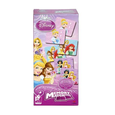 Childrens Early Development Toys Disney Princess Memory Match Game - Cinderella, Belle, Ariel (36pc Set) (Multipack of 12) (Childrens Halloween Birthday Games)