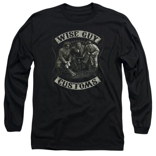 The Three Stooges Wise Guy Customs Mens Long Sleeve Shirt Black XL