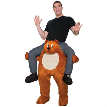Adult Ride on a Bear Halloween Costume - Working On Halloween
