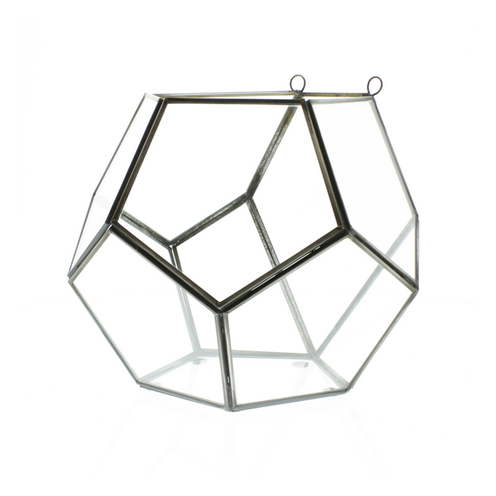 Areo Home Pierre Leaded Glass Wall Dodecahedron Terrarium