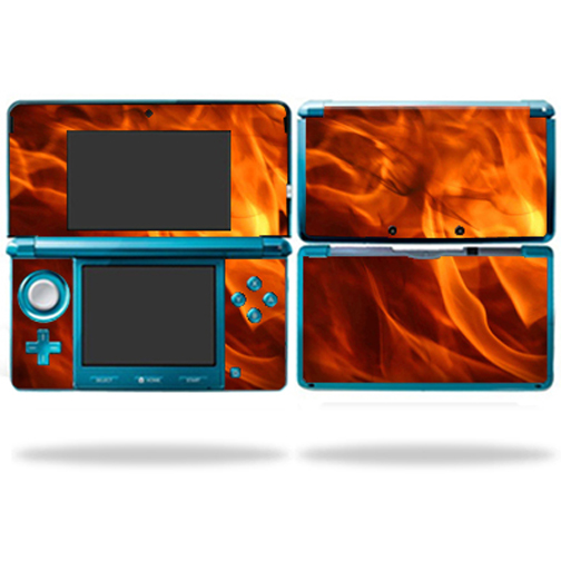 Mightyskins Protective Vinyl Skin Decal Cover for Nintendo 3DS wrap sticker skins Back Draft
