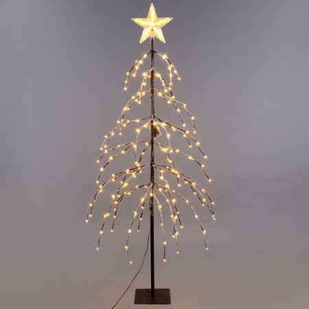 EXCELVAN 1.5M/5FT 176LED IP44 Star Snow Tree Light Home/Festival/Party/Wedding Christmas