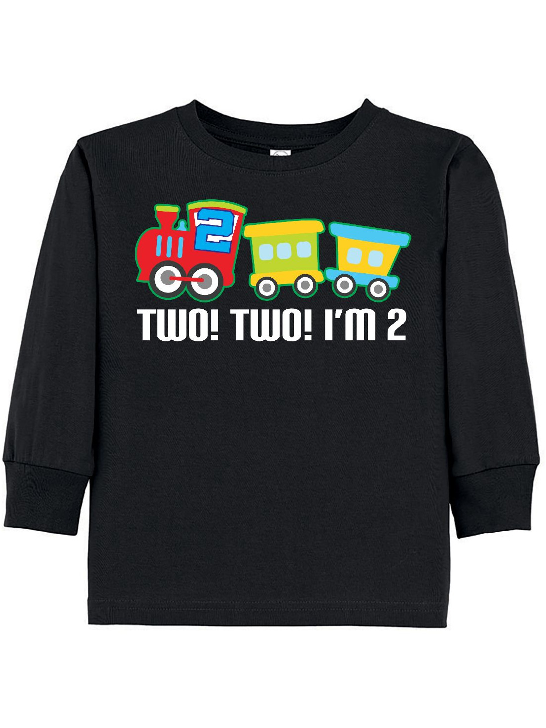 2nd Birthday Two Two Train Outfit Toddler Long Sleeve T-Shirt