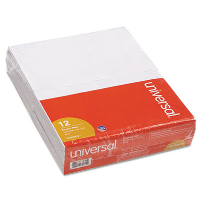 Scratch Pads, Unruled, 5 x 8, White, 12 100 Sheet Pads/Pack