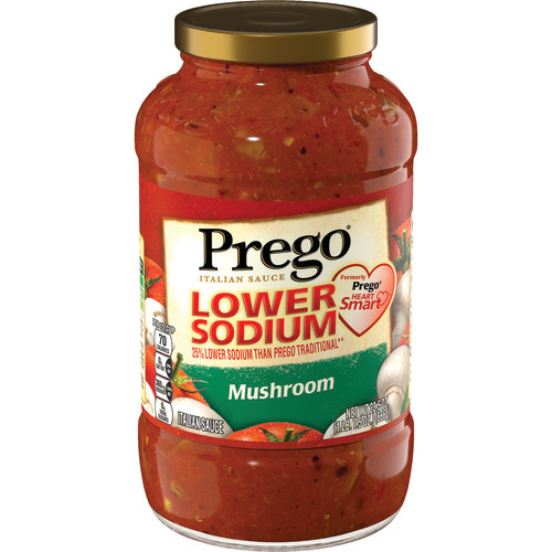 Prego Lower Sodium Mushroom Italian Sauce, 23.5 oz.