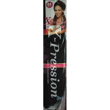 Bijoux 84 Inches 100 Kanekalon Braiding Hair Color 1