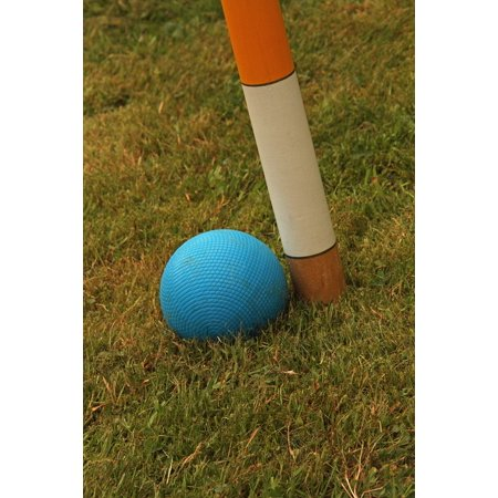 Canvas Print Equipment Wooden Balls Croquet Mallet Green Hoop Stretched Canvas 10 x 14