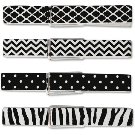 Teacher Created Resources, TCR20672, Decorative Clothespins, 20 / Pack, Black,White (Teachers Store)