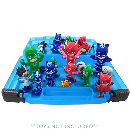 PJ Masks Sticker Book + Case, Toy Storage Carrying Box. Figures Playset Organizer. Accessories For Kids by LMB
