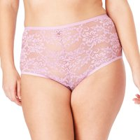 Comfort Choice Plus Size 2-pack Lace Full-cut Brief  Underwear