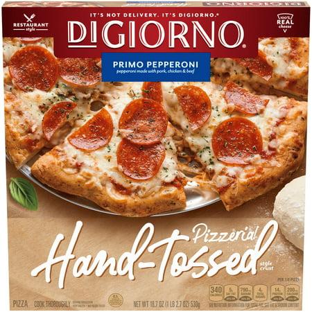 DIGIORNO PIZZERIA! Primo Pepperoni Hand-Tossed Style Crust Frozen Pizza 18.7 oz. Box