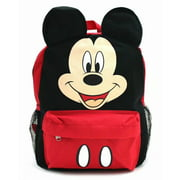 "Disney Mickey Mouse Face Ears 12"" Small Backpack Book Bag for Kids"