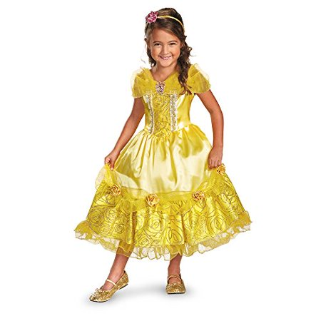 Disguise Disney's Beauty and The Beast Belle Sparkle Deluxe Girls Costume, 3T-4T