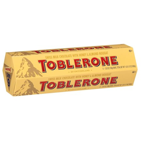 Torrone Nougat - Product of Toblerone Swiss Milk Chocolate with Honey & Almond Nougat, 6 ct./3.52 oz. [Biz Discount]