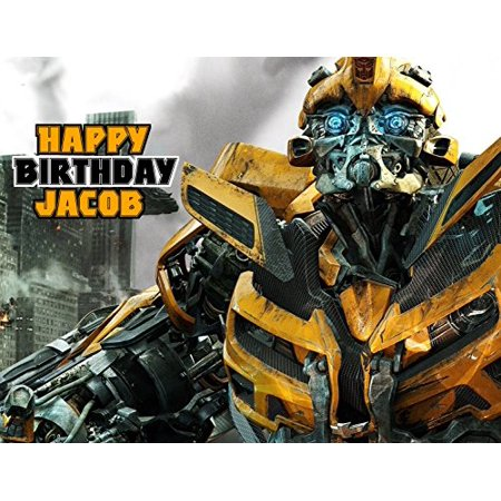 Transformers Edible Image Photo Sugar Frosting Icing Cake Topper Sheet Personalized Custom Customized Birthday Party - 1/4 Sheet - - Transformer Cakes