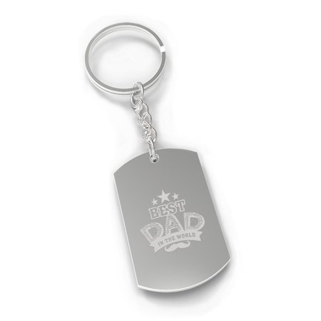 Best Dad In The World Dog Tag Style Key Chain Dad Gifts From
