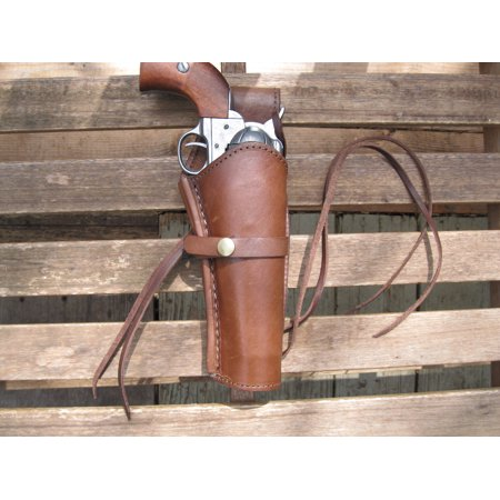 Western Gun Holster - Brown - Smooth Leather - 6
