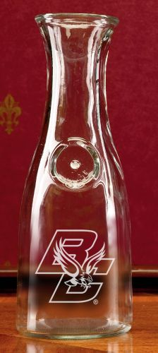 Boston College Eagles Deep Etched 1 Litre Wine Carafe by Campus Crystal