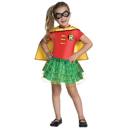 Robin Tutu Dress Up Girls Child Superhero Sidekick Halloween Costume - Superhero Girl Dress Up