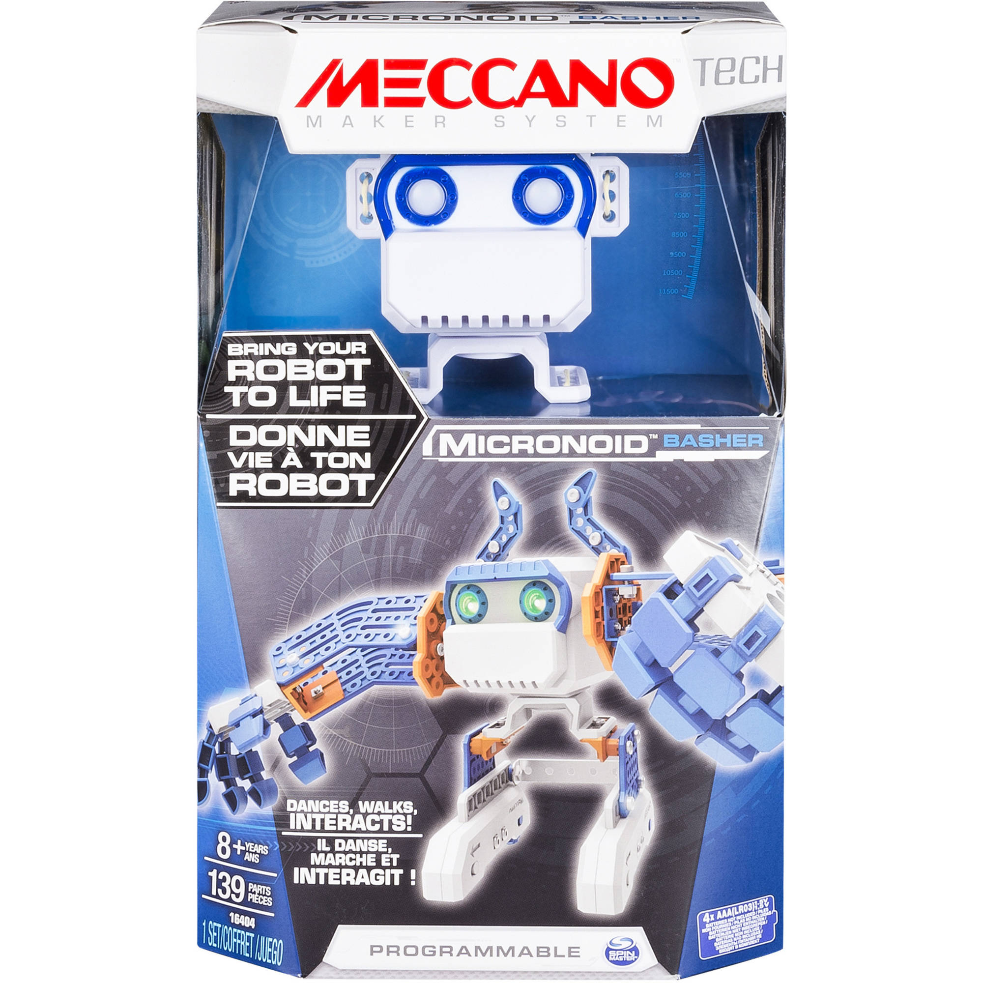 Meccano-Erector - Micronoid - Blue Basher, Programmable Robot Building Kit