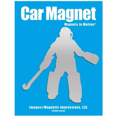 Field Hockey Goalie Car Magnet Chrome