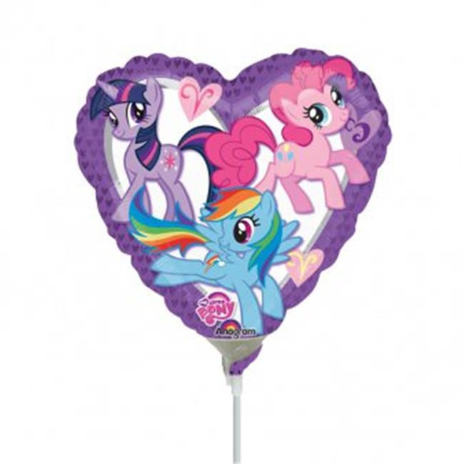 Anagram 56904 9 in. My Little Pony Heart Foil Balloon