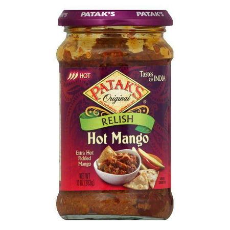Patak Mango Relish - Patak's Relish Hot Mango, 10 OZ (Pack of 6)
