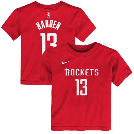 promo code 5f4ca fdc10 James Harden Houston Rockets Nike Preschool Name & Number T-Shirt - Red