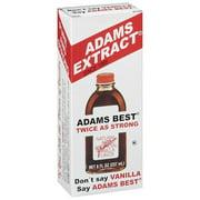 Adams Extract Vanilla Natural & Artificial Flavor Twice As Strong Extract, 8 fl oz