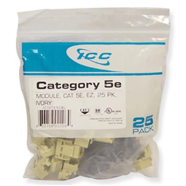 ICC IC107E5CIV Cat 5e EZ Modular Connector, Ivory