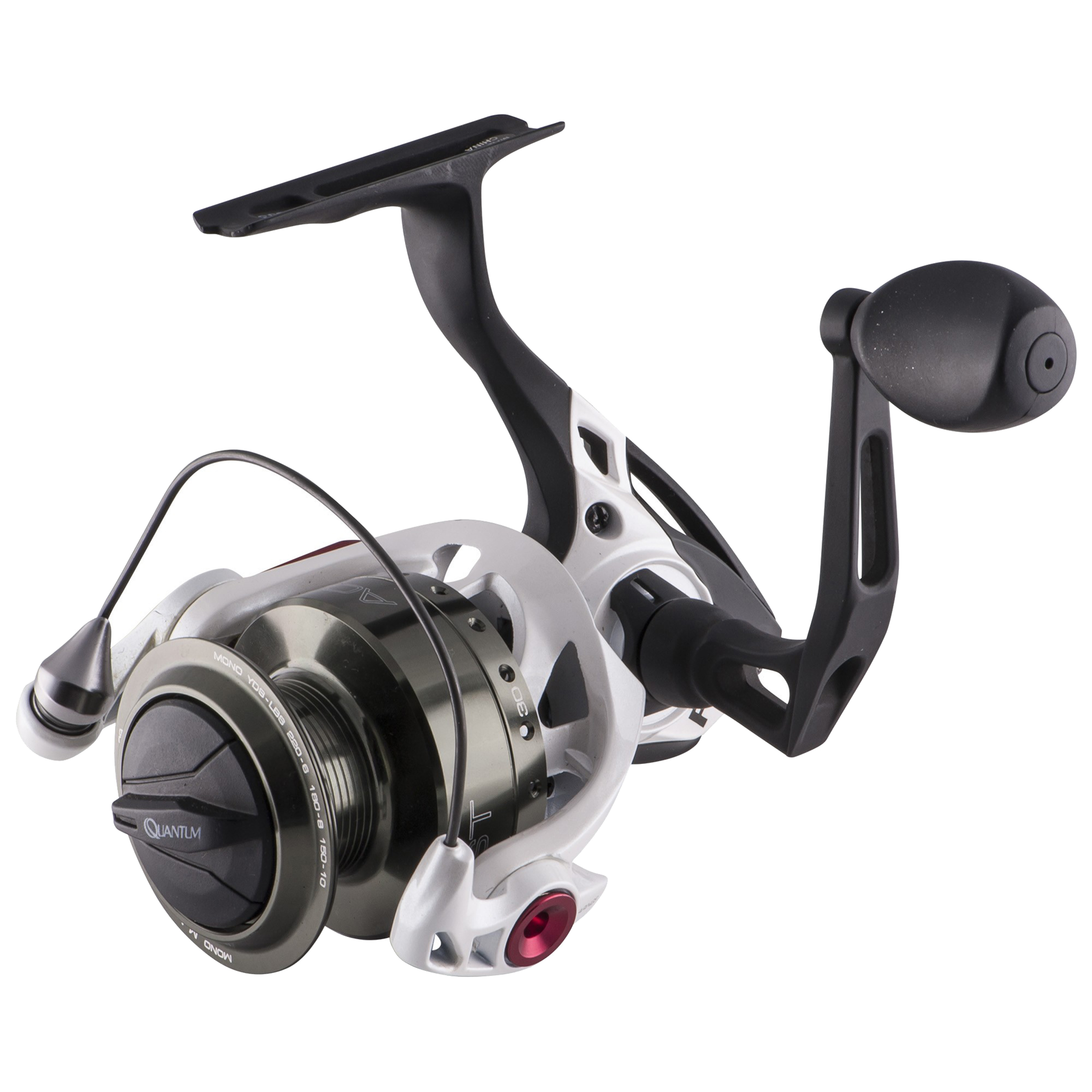 "Zebco / Quantum Accurist PT Spinning Reel Size 30, 5.2:1 Gear Ratio, 28"" Retrieve Rate, 18 lb Max Drag, Ambidextrous"