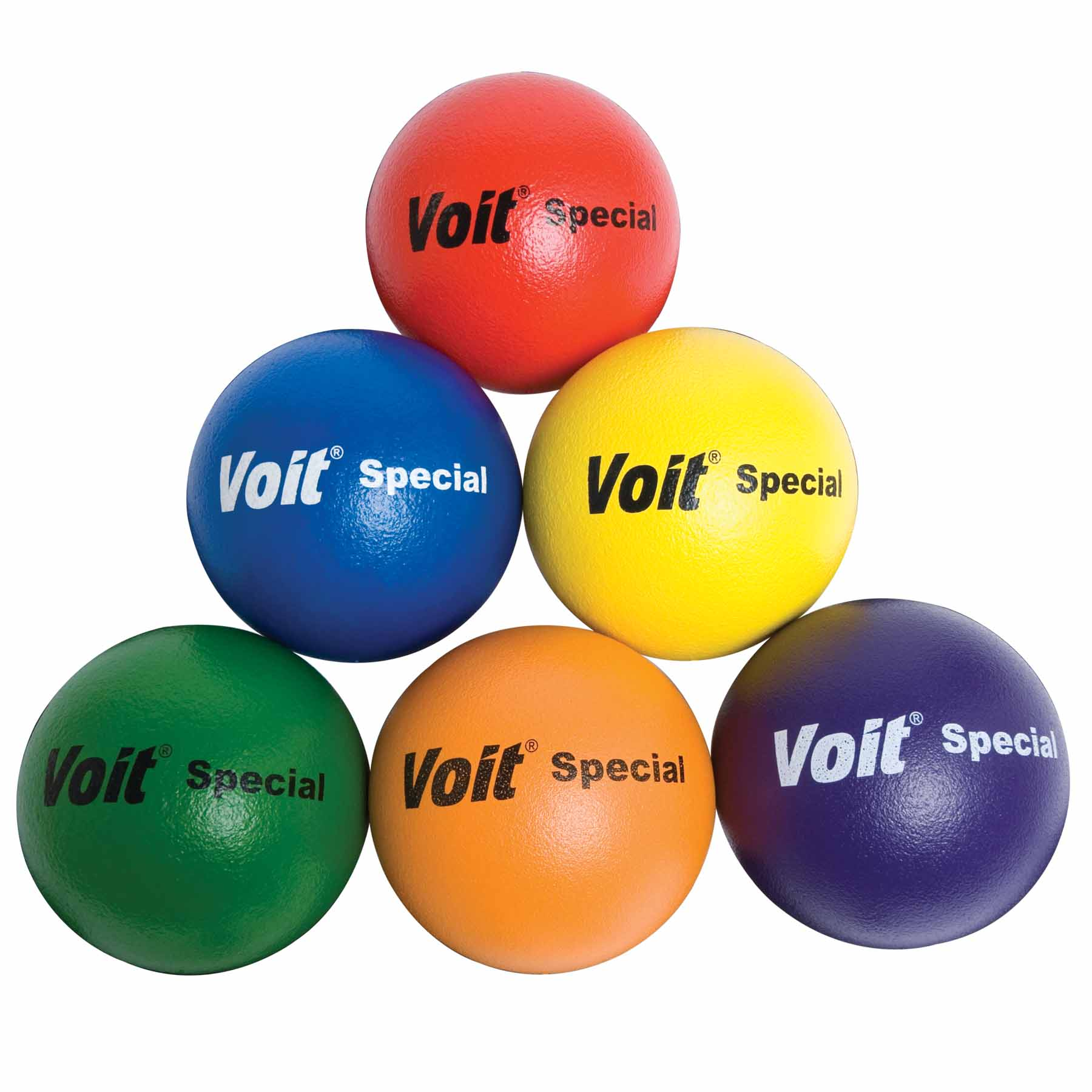 "Voit® 8.25"" ""Special"" Tuff Balls, Rainbow Set of 6"
