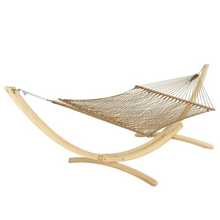 Hatteras DC-14AB Large DuraCord Rope Hammock - Antique Brown