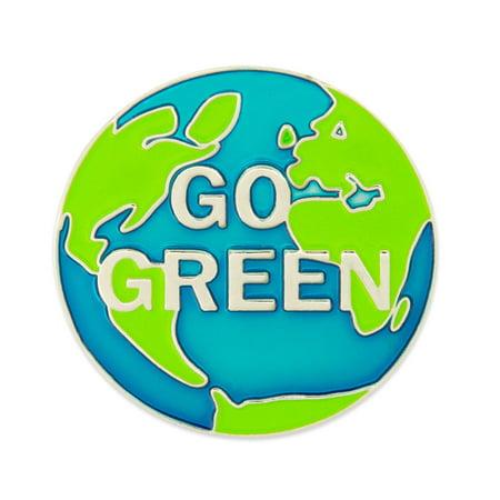 ECO Go Green World Environmental Awareness Enamel Lapel Pin