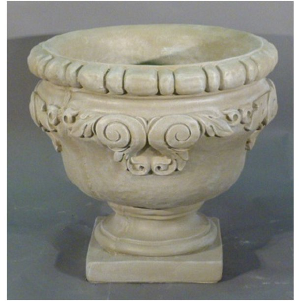 Set Of 2 River Rock Finished Outdoor, Garden Urns Planters