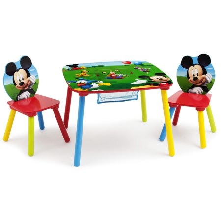 Disney Mickey Mouse Wood Kids Storage Table And Chairs Set By Delta Children