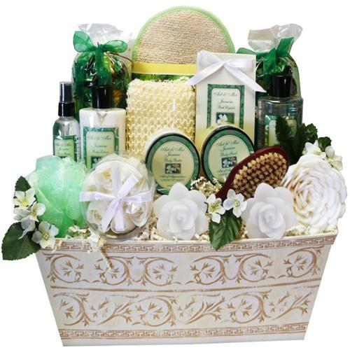 Art of Appreciation Gift Baskets Art of Appreciation Jasmine Renewal Spa Bath and Body Large Gift Basket