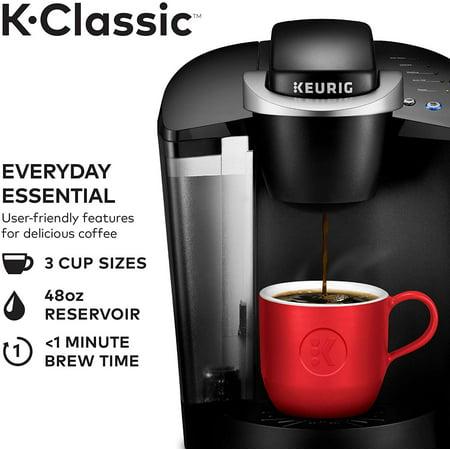 Keurig K-Classic Single Serve Coffee Maker, Black ...