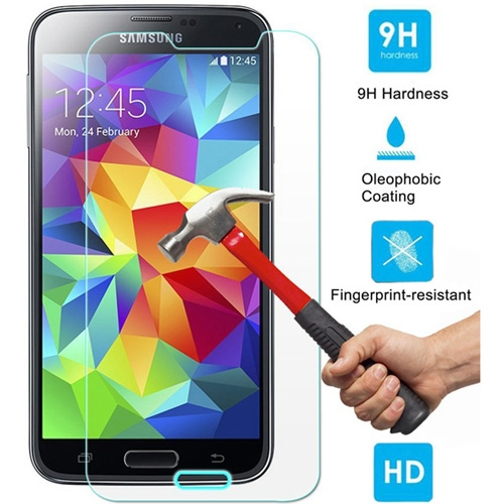 Tempered Glass Screen Protector 9H Hardness HD Clear LCD Cover Display Film 87 for Samsung Galaxy S5