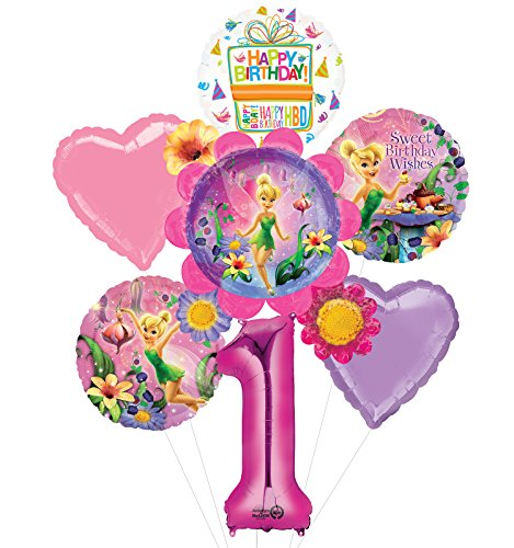 Tinkerbell 1st Birthday Party Supplies Flower Cluster Balloon Bouquet Decorations