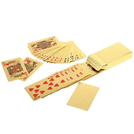 Herwey Jeu de poker enduit de jeu de tisonnier enduit de feuille d'or en plastique imperméable durable, cartes de tisonnier, cartes à jouer - image 3 de 6